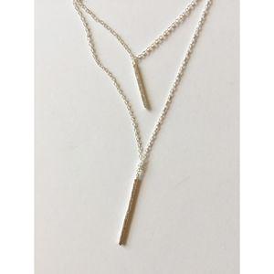 Gorjana Kiernan Double Pendant Necklace in Silver